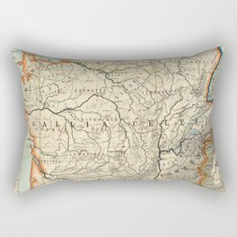 Vintage Map of France (1887) Rectangular Pillow