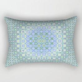 light blue butterfly kaleidoscope Rectangular Pillow