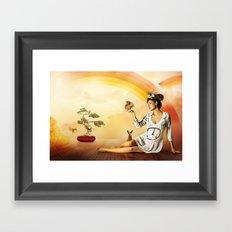 Snow White was a Hippie Framed Art Print