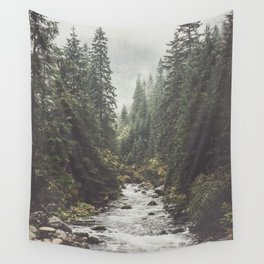 Mountain creek - Landscape and Nature Photography Wall Tapestry