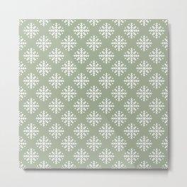 White Snowflakes 3 Metal Print