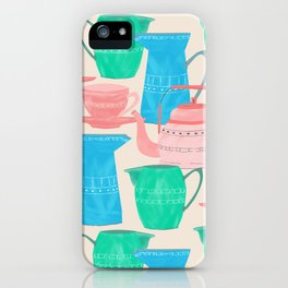 Jugs and Cups Pattern iPhone Case