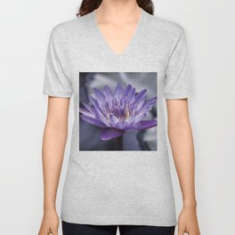 Purple Water Lily Unisex V-Neck