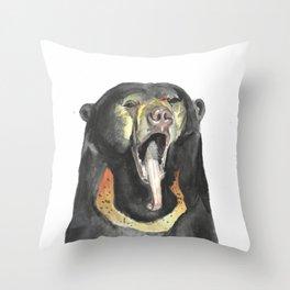 Sun bear Throw Pillow
