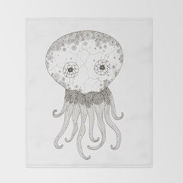 Cracked Octopus Throw Blanket
