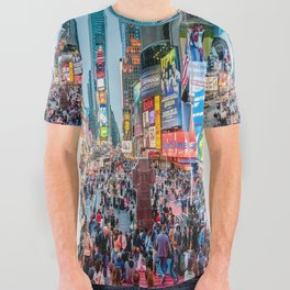 Times Square Tourists All Over Graphic Tee