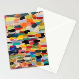 Multi-colored paint strokes Stationery Cards