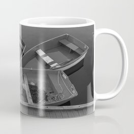 Four Skiffs Black and White Coffee Mug