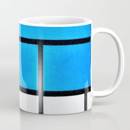 Composition With Large Blue Plane, Red, Black, Yellow, And Gray - Piet Mondrian Coffee Mug