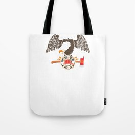 Patriotic Firefighter Eagle Fire Department Tote Bag