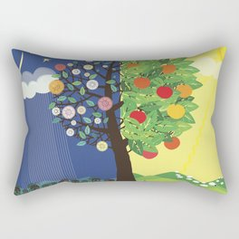 """Seasons"" Spring-Summer Rectangular Pillow"