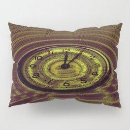 Hands of Time Yellow Rippling Water Art Motif Pillow Sham