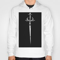 sword Hoodies featuring Odin's sword by Jessica Bowman Illustrates