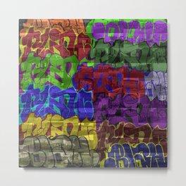 BLAH The Bad Guy Mosaic  Metal Print