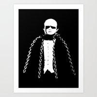 Monster in Chains Art Print