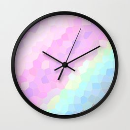 Pastel Illusions Wall Clock