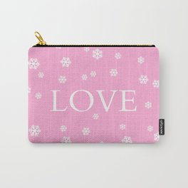 Winter Love - pink - more colors Carry-All Pouch