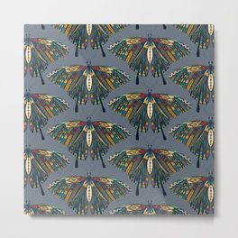 swallowtail butterfly indigo Metal Print