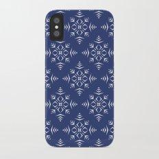 Paper Cut Snowflake Pattern iPhone X Slim Case