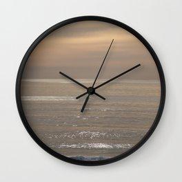 Shimmering Ocean Sunset Wall Clock