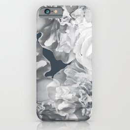 Elegant Peony Bouquet Gray Monochrome #decor #society6 #buyart iPhone Case