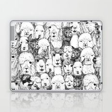 just alpacas black white Laptop & iPad Skin