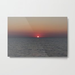 Greek sunset Metal Print