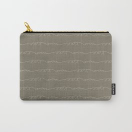 Those Idaho Ranges   In Taupe/Black Carry-All Pouch