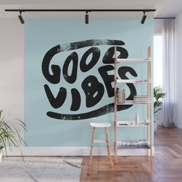 Good Vibes Typography Wall Mural