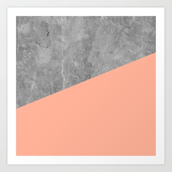 Geometry 101 Sweet Peach Pink Art Print