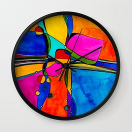 Magical Thinking No. 8 by Kathy Morton Stanion Wall Clock