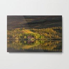 Icelandic Autumn Metal Print