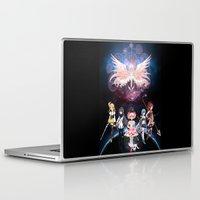 madoka magica Laptop & iPad Skins featuring Madoka Magica by Yiji