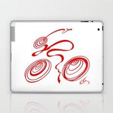Bicycle - Red Ribbon Rider Laptop & iPad Skin