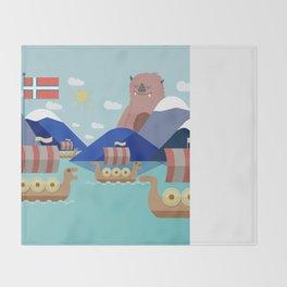 Fjords of Norway pt.2 Throw Blanket