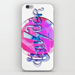 Thunder (pink and blue) iPhone Skin