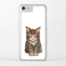 Little Kitten II Clear iPhone Case