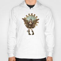 steam punk Hoodies featuring Steam Punk Pilot Faery by Hafapea