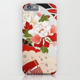Japanese Floral Wedding Kimono Pattern iPhone Case