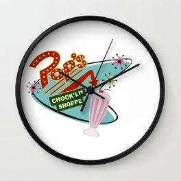 Pops 1950s Chock'lit shoppe Wall Clock