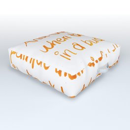 And the day came Outdoor Floor Cushion