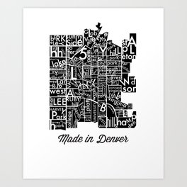 made in denver Art Print