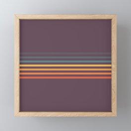 Mototsuna - Classic American Retro Stripes Framed Mini Art Print