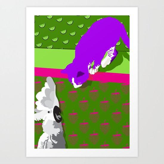 Fast Friends Art Print