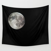 hook Wall Tapestries featuring Moon by Matt Bokan