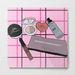 Makeup shelfie Metal Print