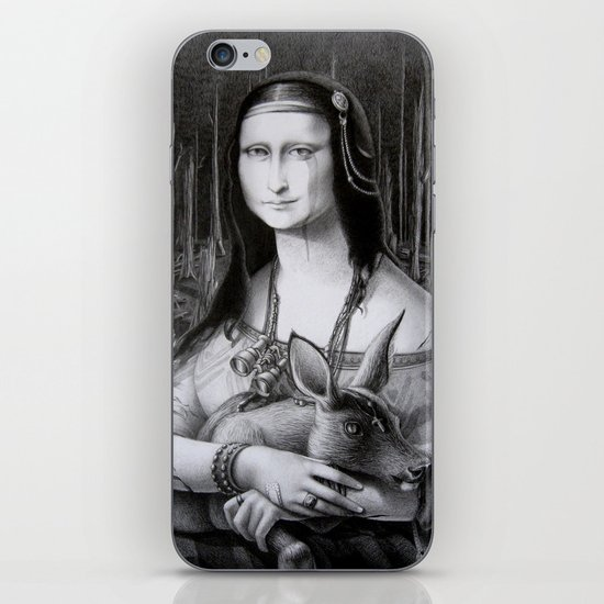 Mona Lisa in the forest iPhone Skin