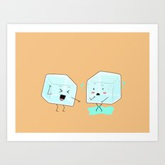 Ice cube problems Art Print