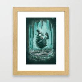 Goblins Drool, Fairies Rule - Gobble T. Goop Framed Art Print