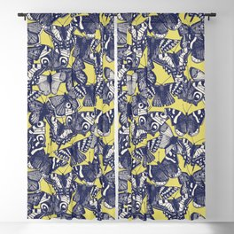 butterfly yellow Blackout Curtain